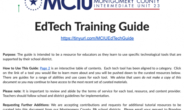 MCIU EdTech Training Guide