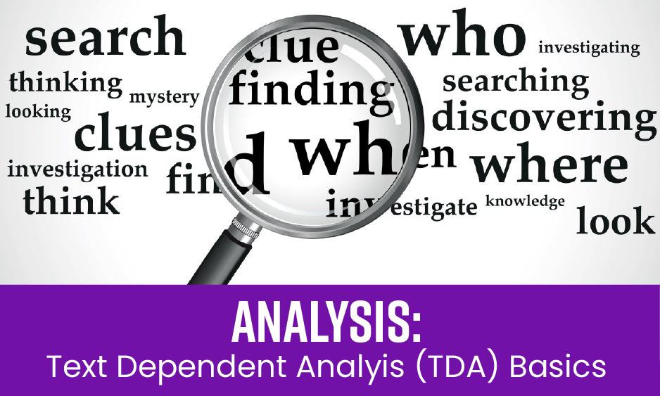 Analysis: TDA Basics