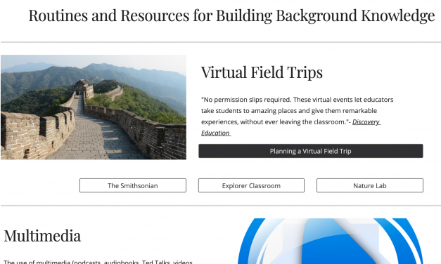 A Learning Guide To Building Background Knowledge