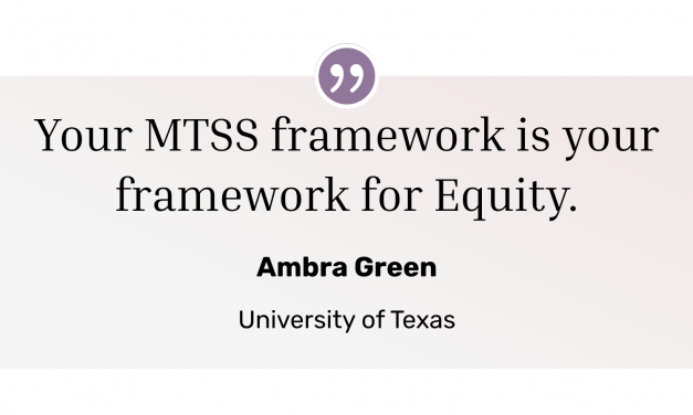 Advancing Equity Through MTSS