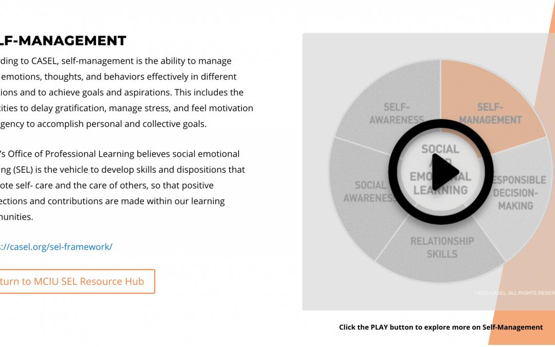 Self-Management (CASEL Framework)